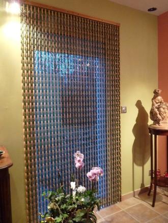 rideaux buis en perles vertes. rideau de porte en buis vert. buis ...