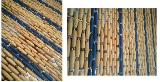 Rideaux buis en perles bleu rideau de porte en buis bleu buis pour rideau - Rideaux de perles pour portes ...